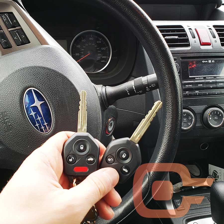 Integrated Remote Keys for a Subaru
